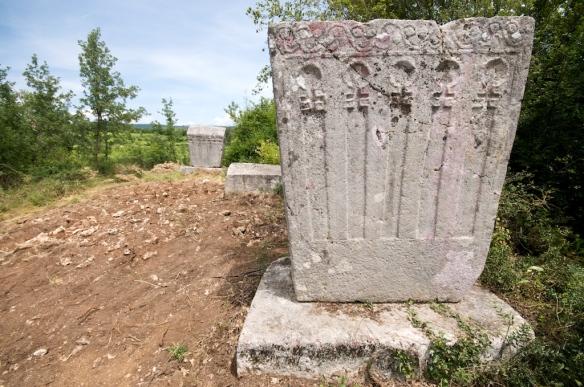 Sjeverni dio srednjovjekovne nekrople u Služnju
