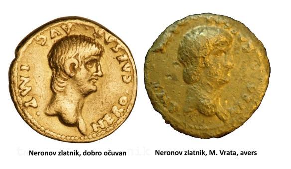 Neronov zlatnik, avers web