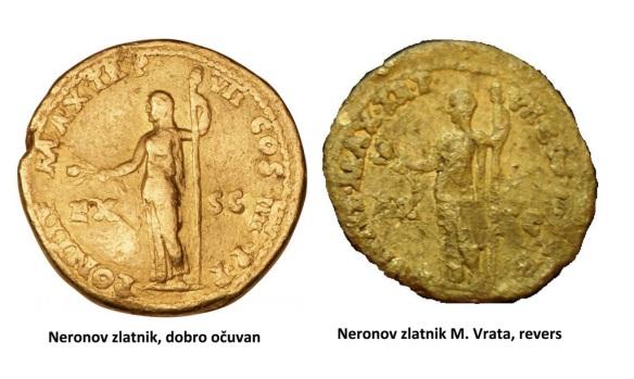 Neronov zlatnik, revers web