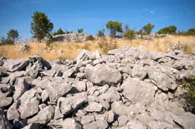 Pogled na vanjski i unutarnji zapadni bedem Veliki Žuželj, Miletina