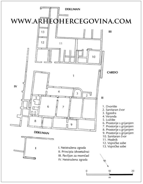 Plan dr.Ive Bojanovskog s opisom istraženih prostorija na Gračinama