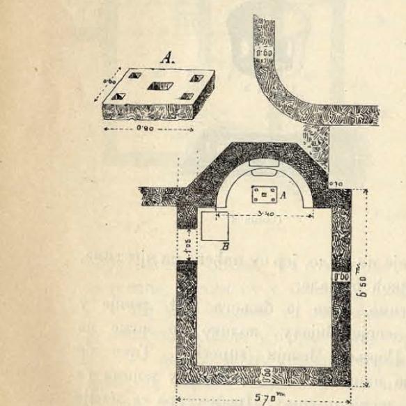 Tlocrt starokršćanskog objekta na Šipkovoj glavici prema Ć.Truhelki iz 1893.