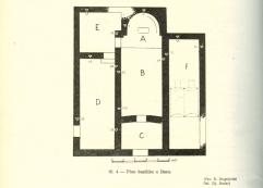 Plan bazilike u Docima, prema D.Sergejevskom 1959.