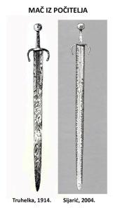 Crteži mačeva iz Počitelja