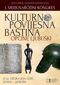 """Službeni plakat kongresa """"Kulturno povijesna baština općina Ljubuški"""""""