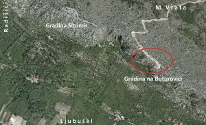 Topografija gradine na Buturovici