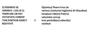Quintus Pisenius, tekst