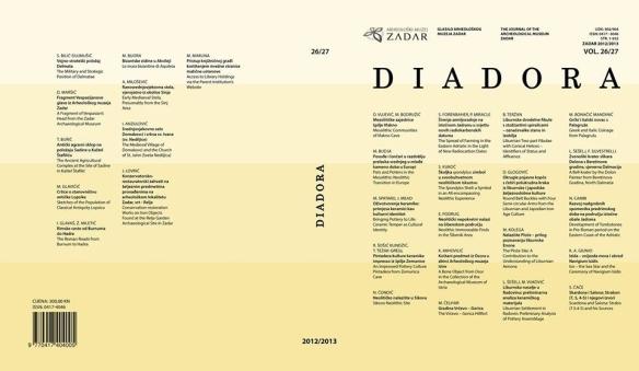 Naslovnica glasila Arheološkog muzeja u Zadru, Zadar 2012/2013.