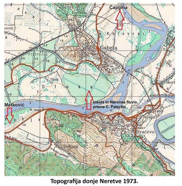 Topografija donje Neretve 1973