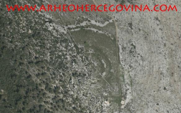 Orto foto lokaliteta Velika Gradina
