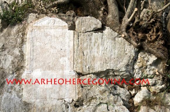 Natpis u živoj stijeni legionara VII. legije L.Domicija, Ljubuški