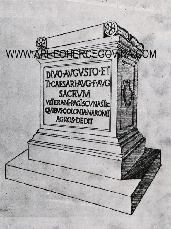 Rekonstrukcija spomenika prema M. Abramiću.