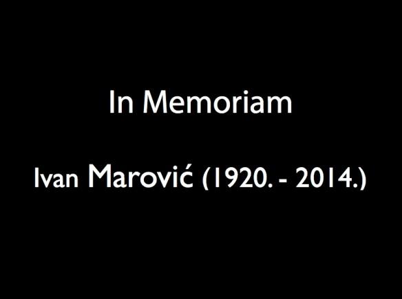 In memoriam Ivan Marović