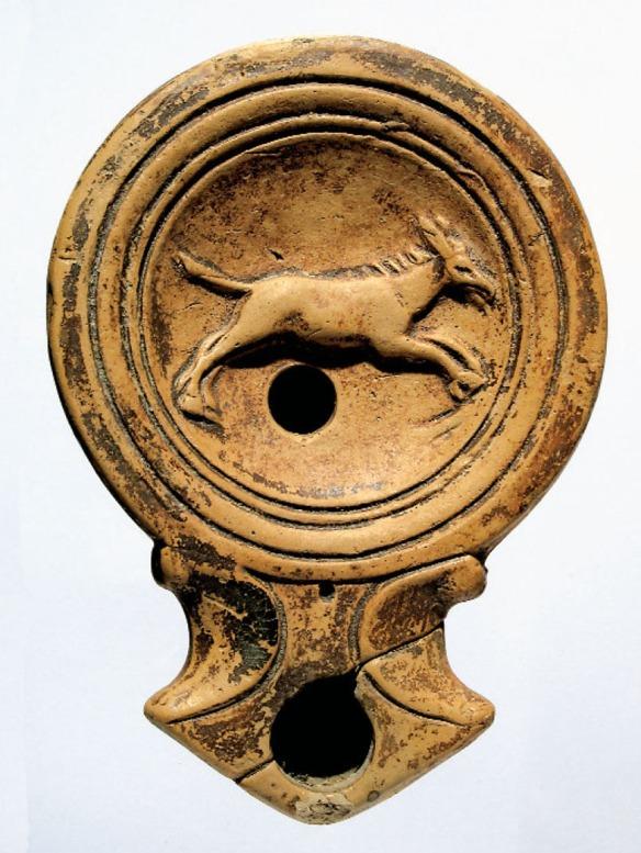 Lucerna s prikazom magarca iz Aserije