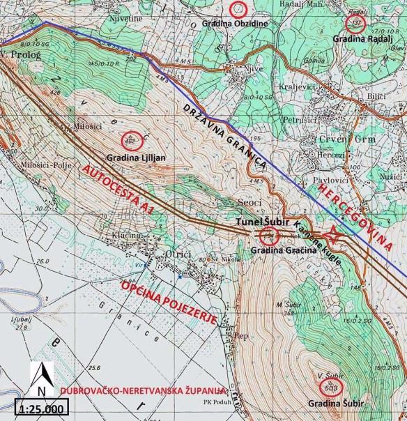 Mapa nalaza kamenih kugla