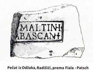 Pečat iz Odžaka, Radišići, prema Fiala-Patsch