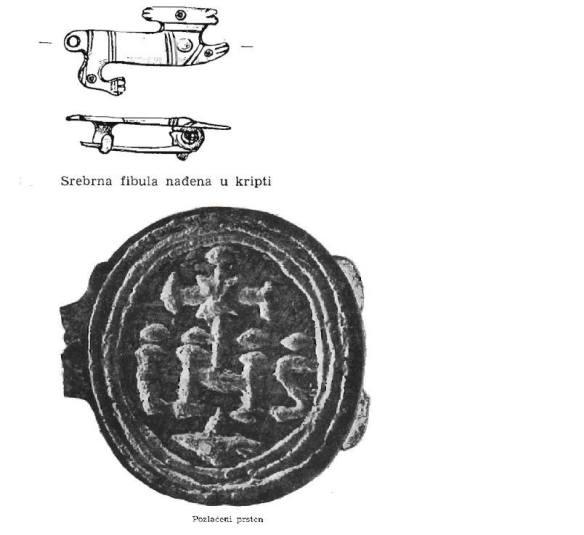 Artefakti nađeni u bazilici na P. Gradcu
