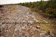 Jugozapadni dio suhozidnog bedema gradine Obzidine