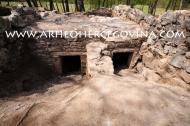 Kasnoantičke grobnice u južnoj prostoriji bazilike.
