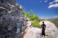 Ostaci istočnog bedema rimske utvrde na Kosmaju.