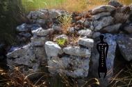 Kontrafori sa sjeverne strane rimske utvrde Kosmaj